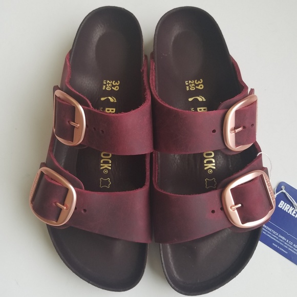 separation shoes cb8bb 4281d Birkenstock Arizona Big Buckle Zinfandel Leather NWT